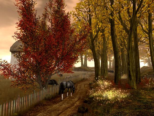 Fall At The Mill -Good Fences Make Good Neighbors