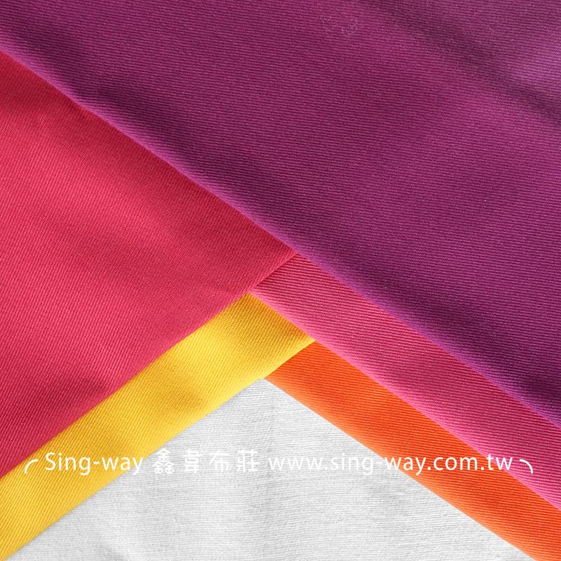 3C360001 紫紅黃色系 素面T/C 棉布 斜紋布