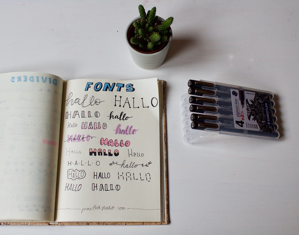 bullet journal inspiration - fonts