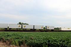 Interesting load (short trailers back to back) on NS203 South, Shenandoah Junction, WV
