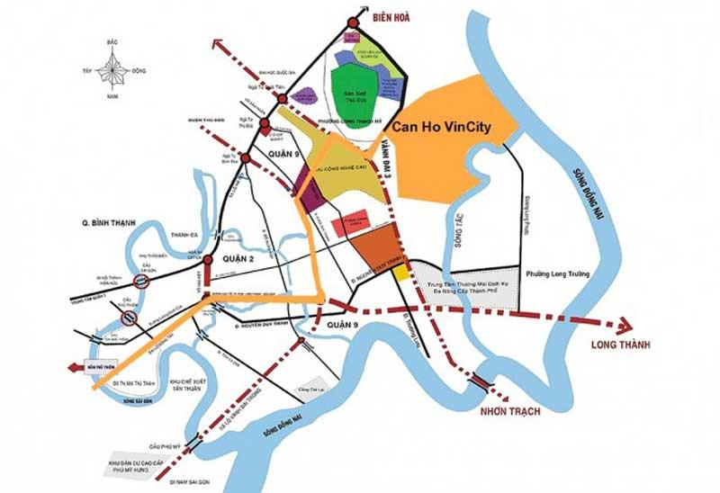 vị trí vincity quận 9