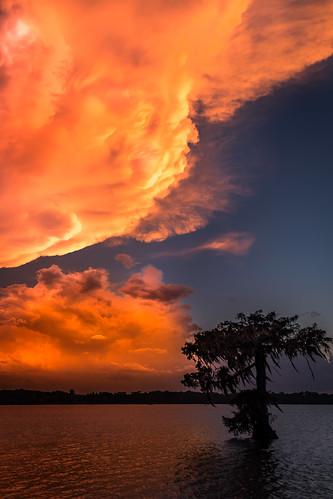 Lake Martin Storm Cloud at Sunset