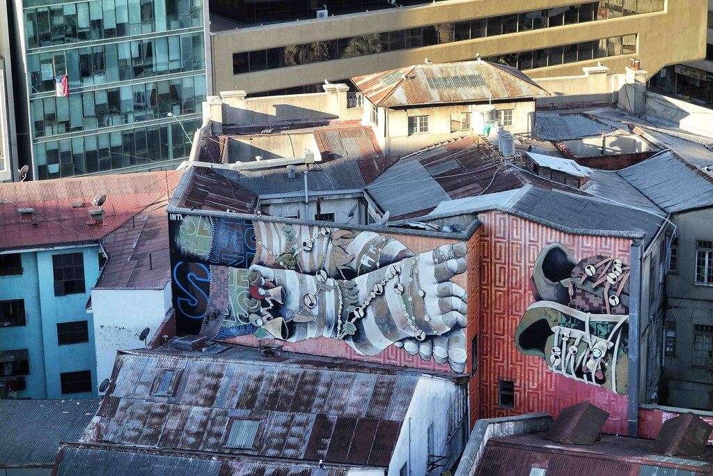 Valparaiso - Street Art - Pieds