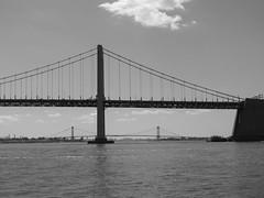 Throgs Neck Bridge And Whitestone Bridge As Seen From Little Neck Bay; New York, US