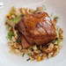 Pineapple braised pork belly, spätzle, pickled mustard greens