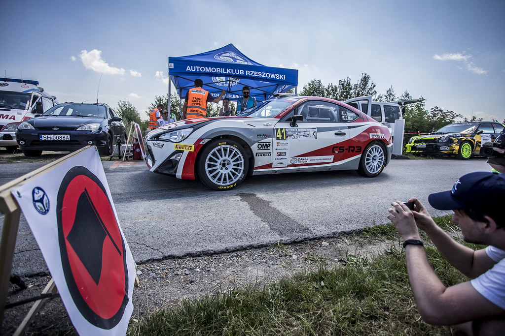 41 ROSSETTI Luca (ITA) MORI Eleonora (ITA) Toyota GT86 CS-R3 action during the 2017 European Rally Championship Rally Rzeszowski in Poland from August 4 to 6 - Photo Gregory Lenormand / DPPI