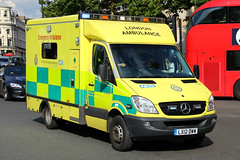 London Ambulance Service Mercedes Sprinter Emergency Ambulance on Shout