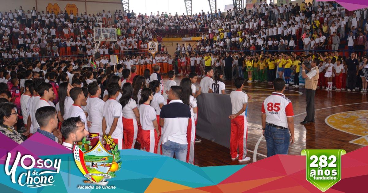 Se inauguraron las olimpiadas deportivas estudiantiles de Chone