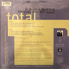 TOTAL:DO YOU THINK ABOUT US(JACKET B)