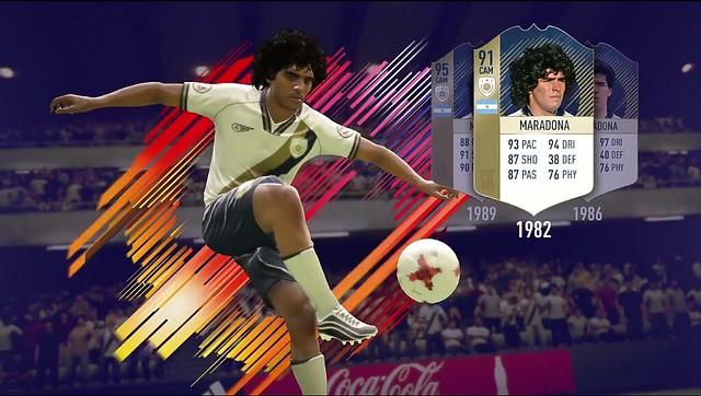 FIFA 18 Maradona Icon Card