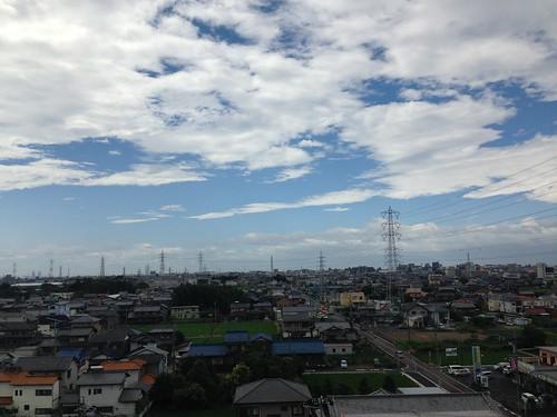 台風が通り過ぎた後の朝。 02