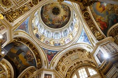 Interior of Saint Isaac's Cathedral in Saint Petersburg, Russia