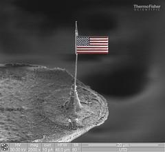 Nano US flag on a tip