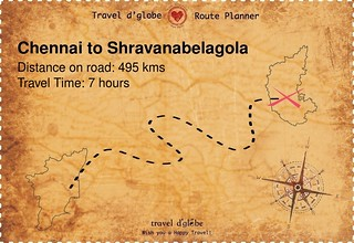 Map from Chennai to Shravanabelagola