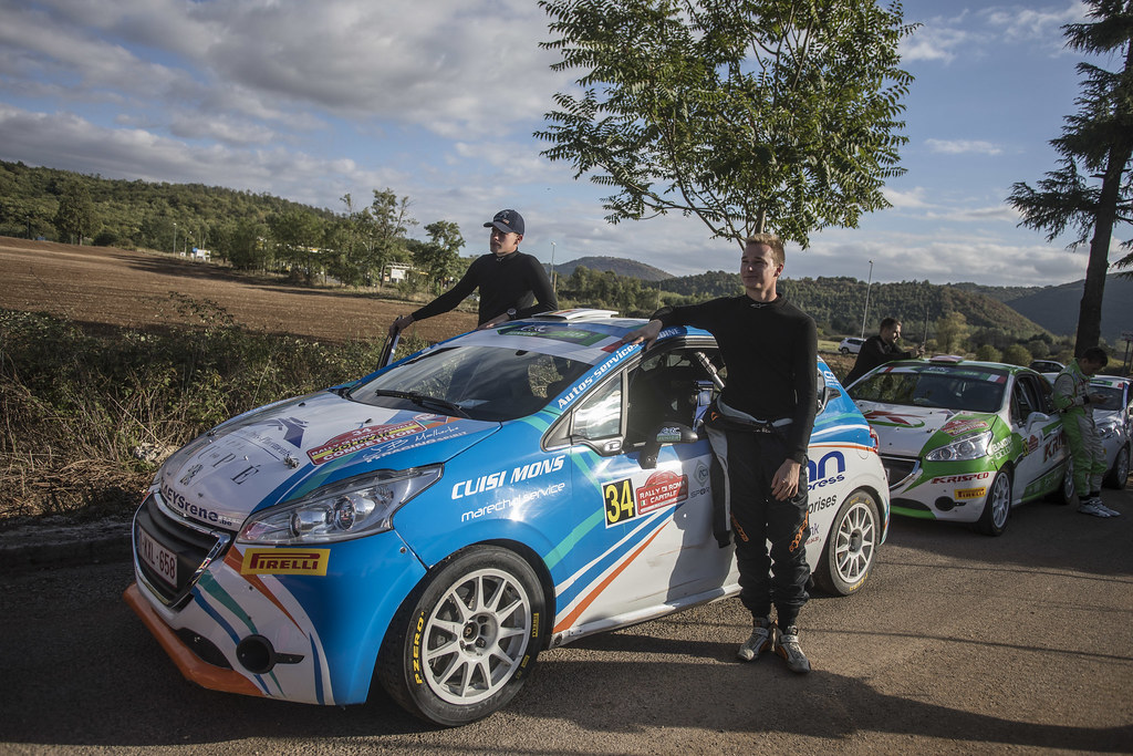 BEDORET Sebastien (BEL) WALBRECQ Thomas (BEL) Peugeot 208 R2 ambiance Portrait during the 2017 European Rally Championship ERC Rally di Roma Capitale,  from september 15 to 17 , at Fiuggi, Italia - Photo Gregory Lenormand / DPPI