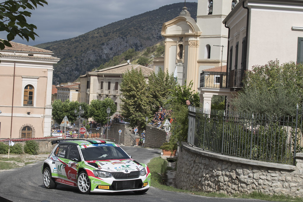 15 DI COSIMO Tonino (ITA) FRANCESCUCCI Paolo (ITA) Skoda Fabia R5 action during the 2017 European Rally Championship ERC Rally di Roma Capitale,  from september 15 to 17 , at Fiuggi, Italia - Photo Gregory Lenormand / DPPI