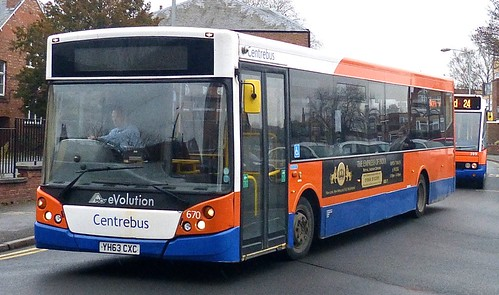 YH63 CXC 'Centrebus' No. 670 VDL SB180 / MCV Evolution on 'Dennis Basford's railsroadsrunways.blogspot.co.uk'