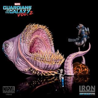 果然戰鬥什麼的,就不關小格魯特的事啊~~Iron Studios Battle Diorama 系列 星際異攻隊2【火箭浣熊&小格魯特】Guardians of the Galaxy Vol. 2 Rocket&Baby Groot 1/10 比例決鬥場景作品