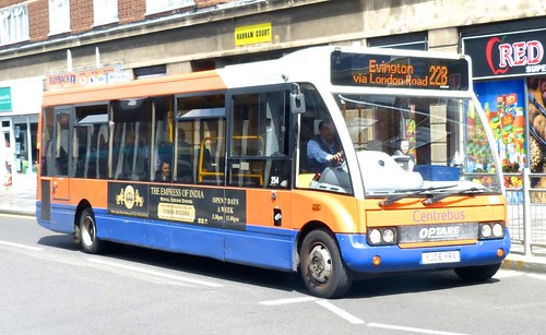 YJ06 YRX 'Centrebus' No. 254 Optare Solo M920 on 'Dennis Basford's railsroadsrunways.blogspot.co.uk'