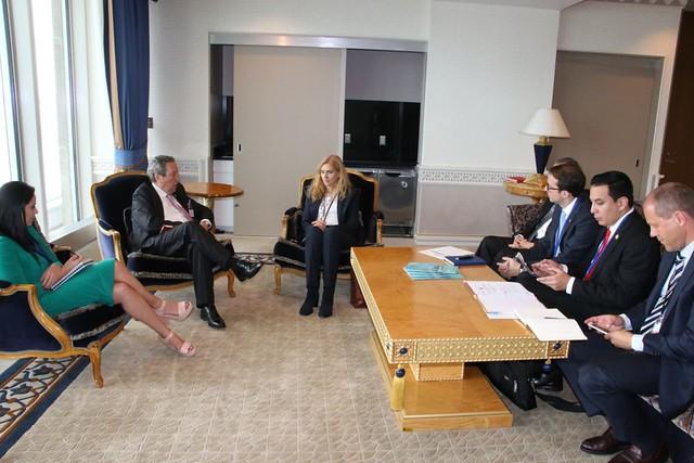 Secretario General del SICA, Vinicio Cerezo presenta Plan de Trabajo a Directora Regional del Ministerio Federal de Relaciones Exteriores de Alemania