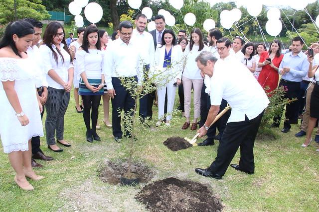 Jóvenes por la integración siembran el Árbol de la Paz