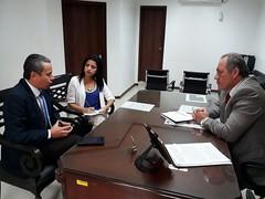 Alcalde recibió al inspector zonal 4 del trabajo en su despacho