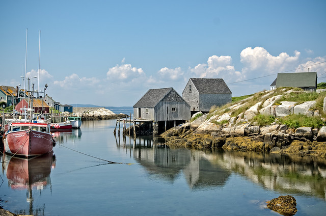 Enjoying Peggy's Cove