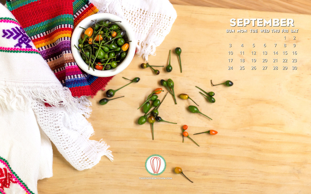 Foodies Freebie: September 2017 Wallpaper Collection