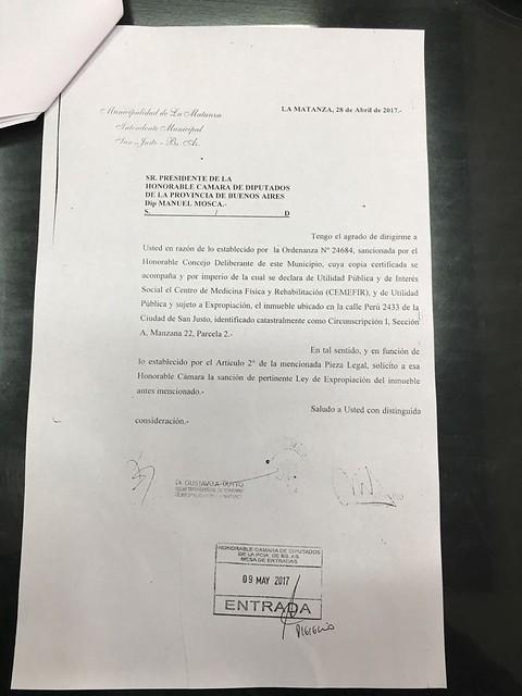 Matanza espera respuesta de la Gobernación