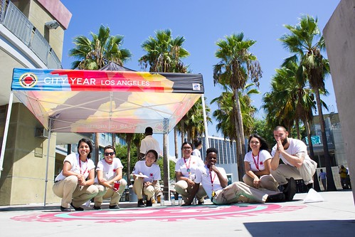 City Year L.A. All-Corps Service Day at Miguel Contreras Learning Complex