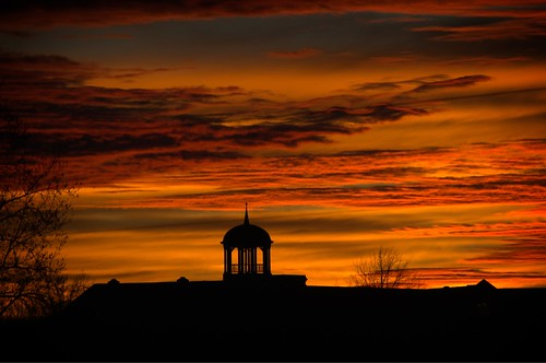 old phelps county courthouse rolla missouri sunset sky orange red nikon d3100 digital outdoors