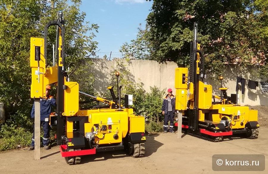 переданы Покупателю из Тульской области и запущены в работу две самоходных сваебойных машины ORTECO BTP HEAVY DUTY