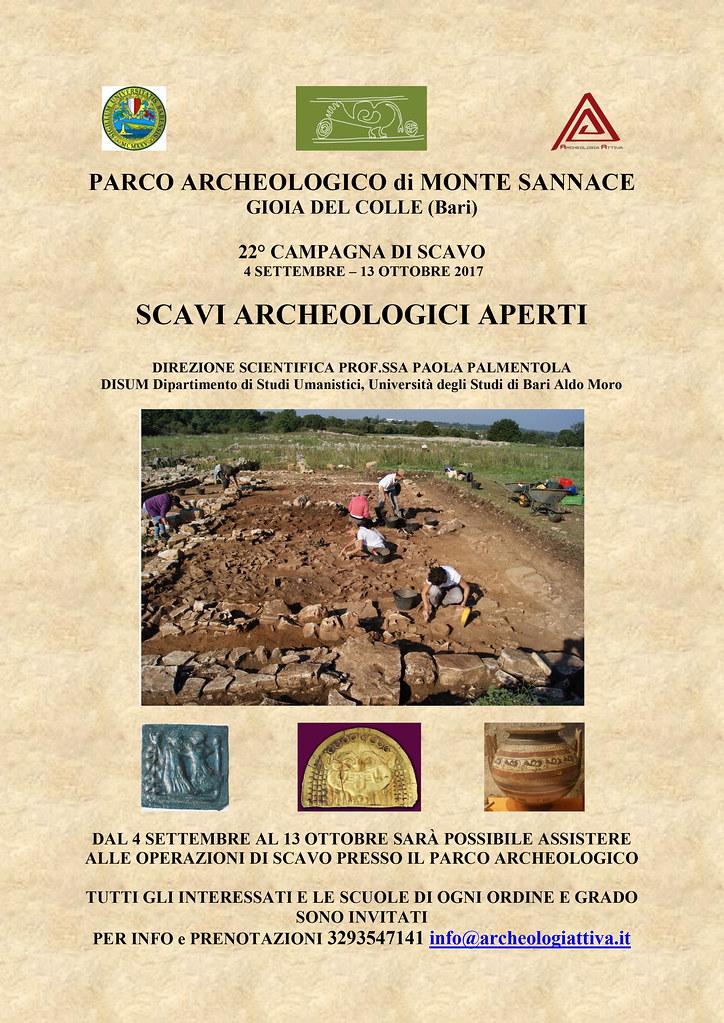Scavi archeologici aperti_Monte Sannace_2017