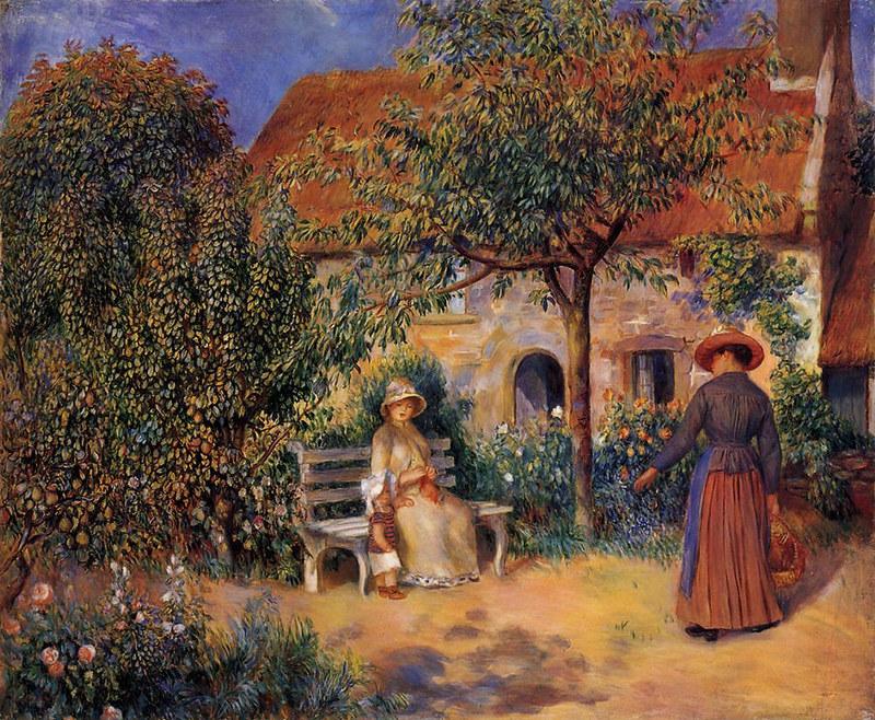 Garden Scene in Brittany by Pierre Auguste Renoir, 1886