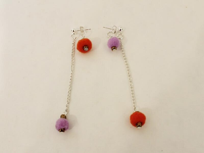 pom pom earrings 1