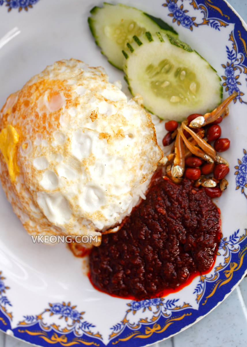 Nasi Lemak Kukus with Fried Egg