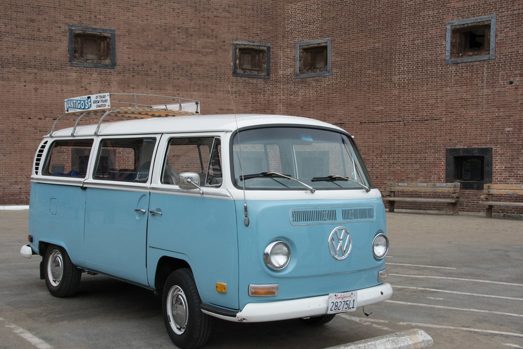 Volkswagen bus for Vantigo tour in San Francisco