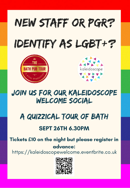 Flyer for the Kaleidoscope welcome event
