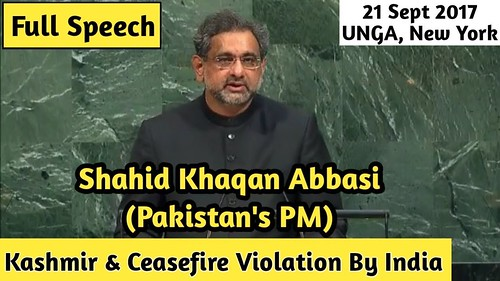 PAk PM speech in UN