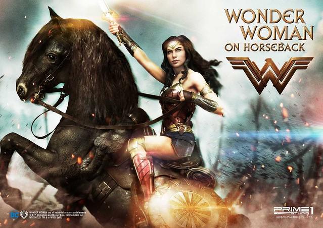 結合美麗與魄力的女神姿態!Prime 1 Studio 神力女超人【神力女超人 On Horseback】ワンダーウーマン ホースバック MMWW-02 1/3 比例全身雕像作品