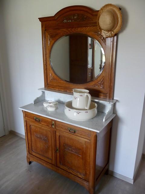Spiegel nachtkastje marmer