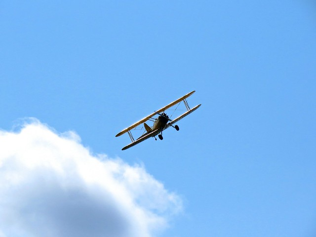 Biplane Flyby
