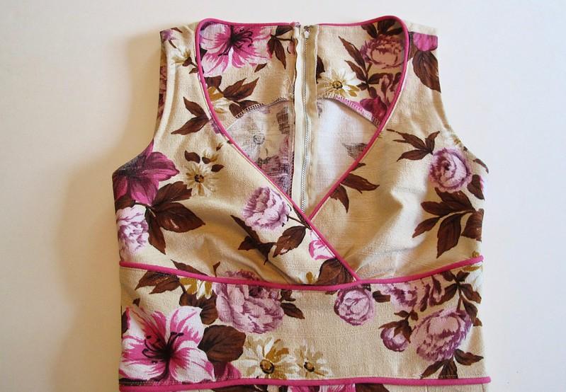 Gertie Surplice Bodice Floral Dress - bodice flat