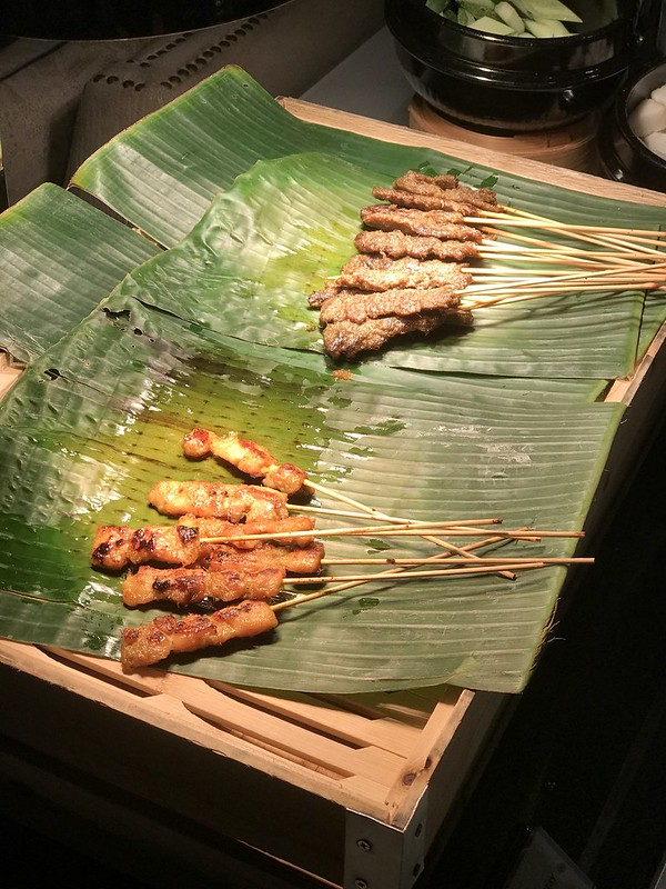 The satay goes fast...