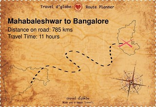 Map from Mahabaleshwar to Bangalore