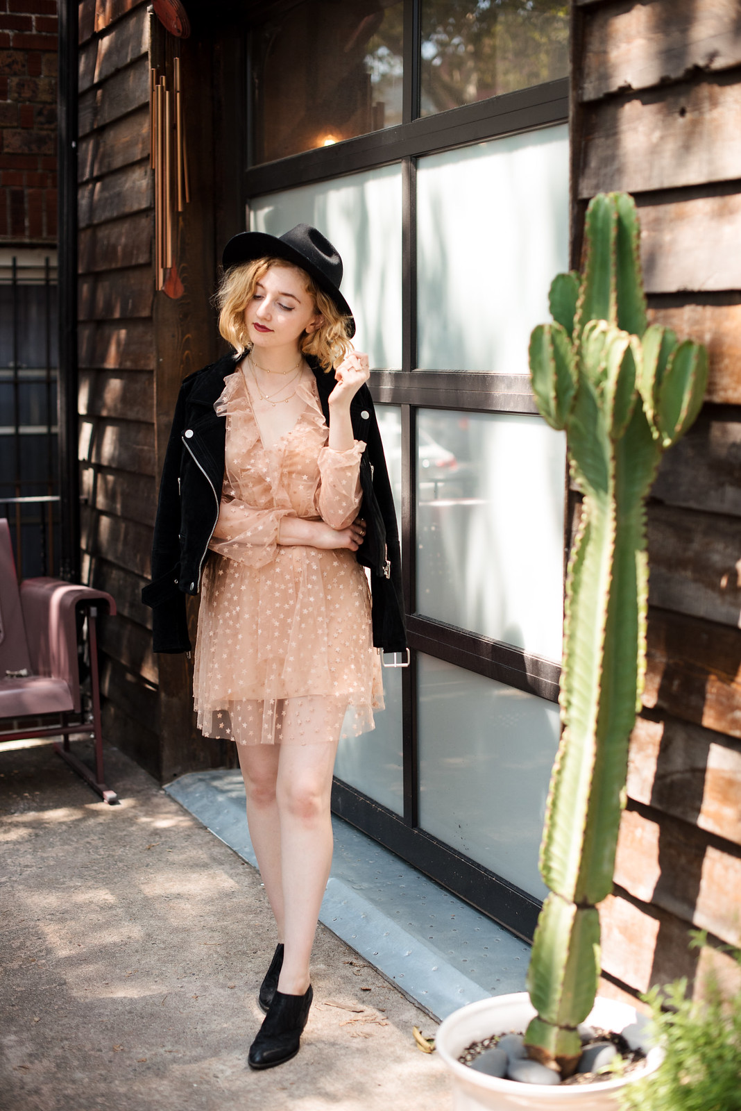 For Love and Lemons Dress Blank NYC jacket at Urban Cowboy on juliettelaura.blogspot.com