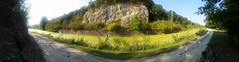 Split Rock panoramic on I&M canal trail west of Utica