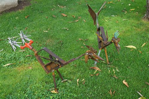 Fritz Russ Art - Metal Chickens