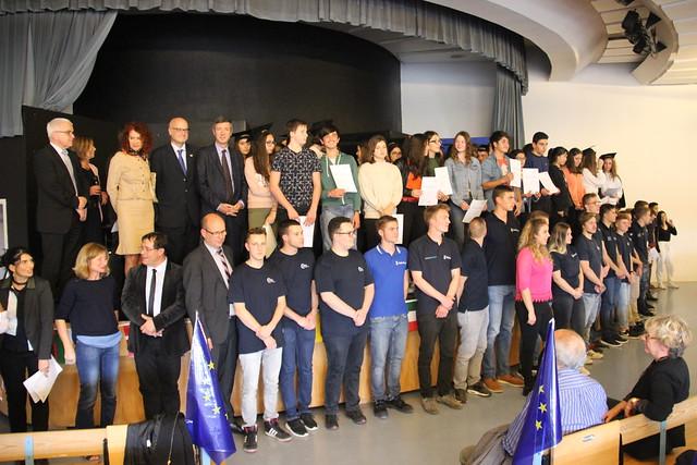 Célébration de la journée européenne des langues:  visite du recteur au lycée Elie Faure à Lormont
