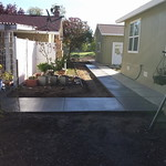 New Concrete Walkway In Rural Vacaville